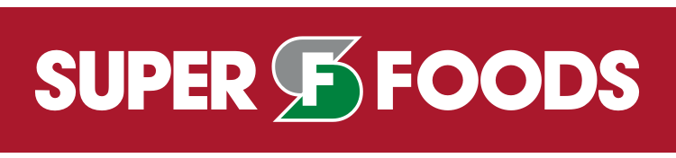 A theme logo of Super Foods Grocery